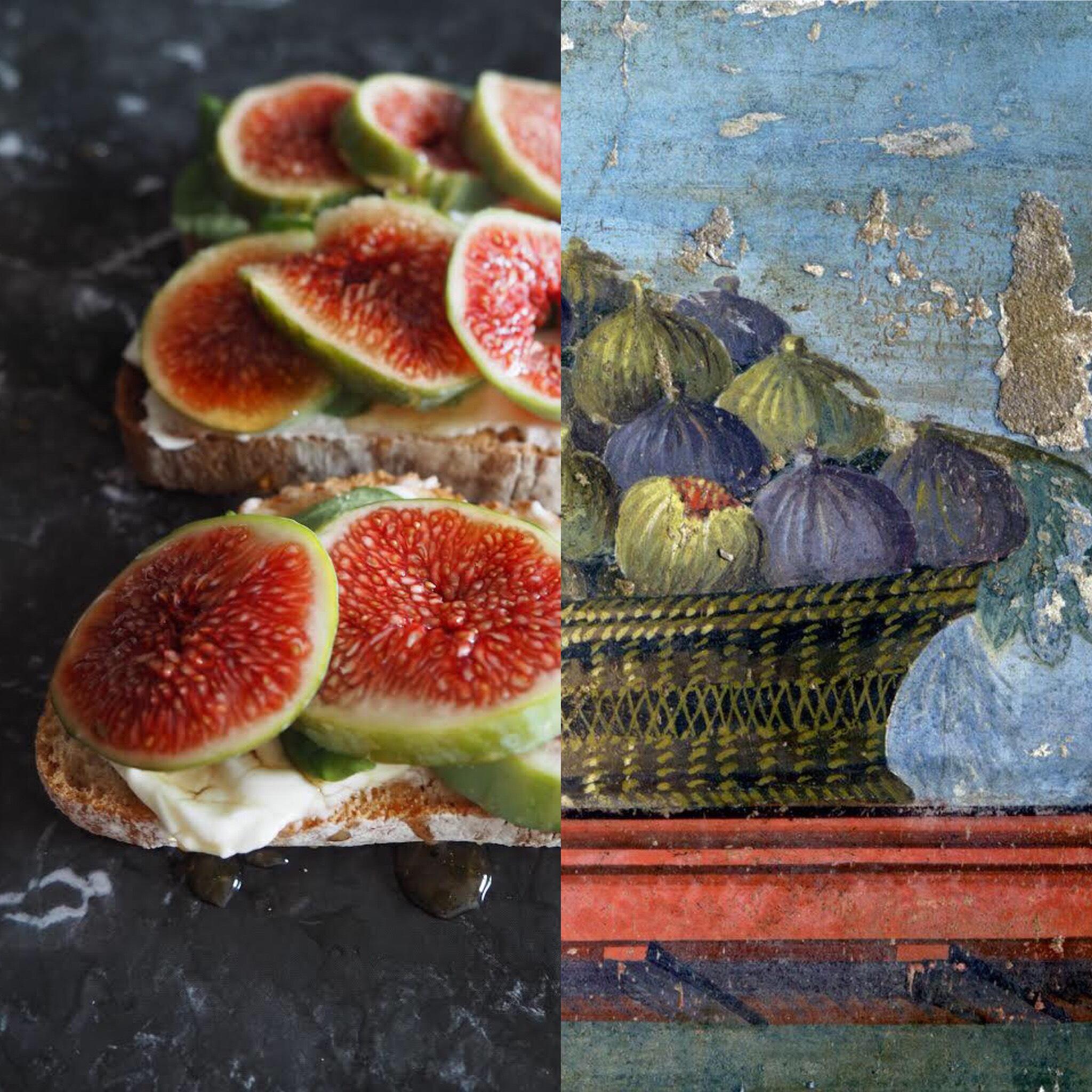 Los frescos pompeyanos y los higos con queso (ESP)