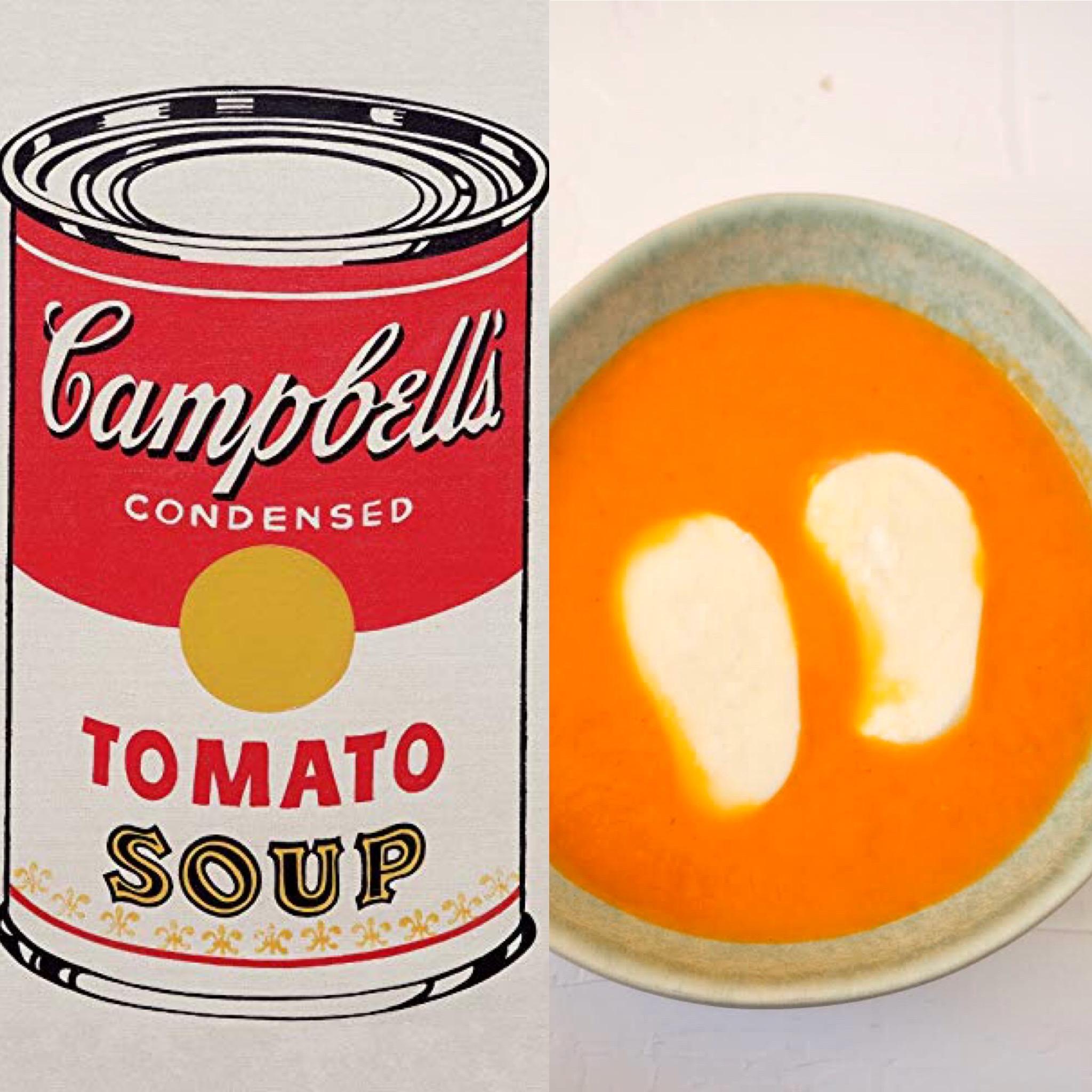 Menú Andy Warhol I: La sopa de tomàquet (CAT)