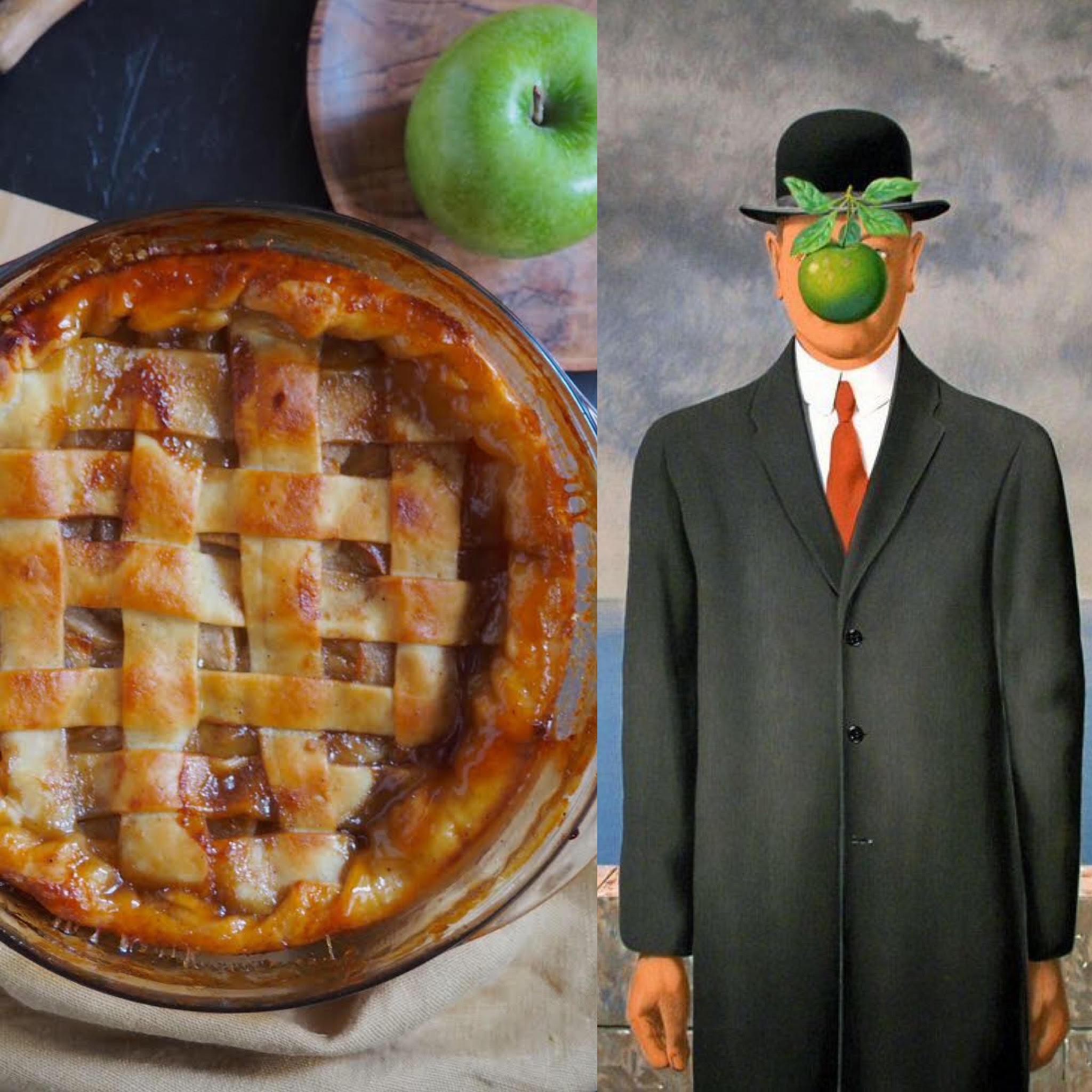 Magritte i el pastís de poma
