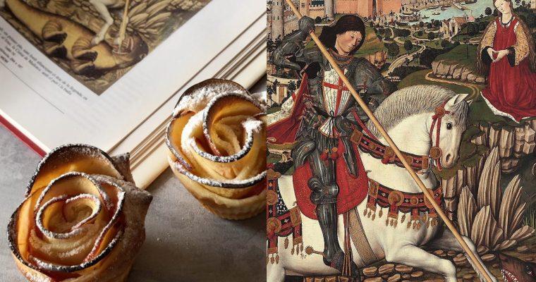 Sant Jordi, Pere Niçard i les roses de poma