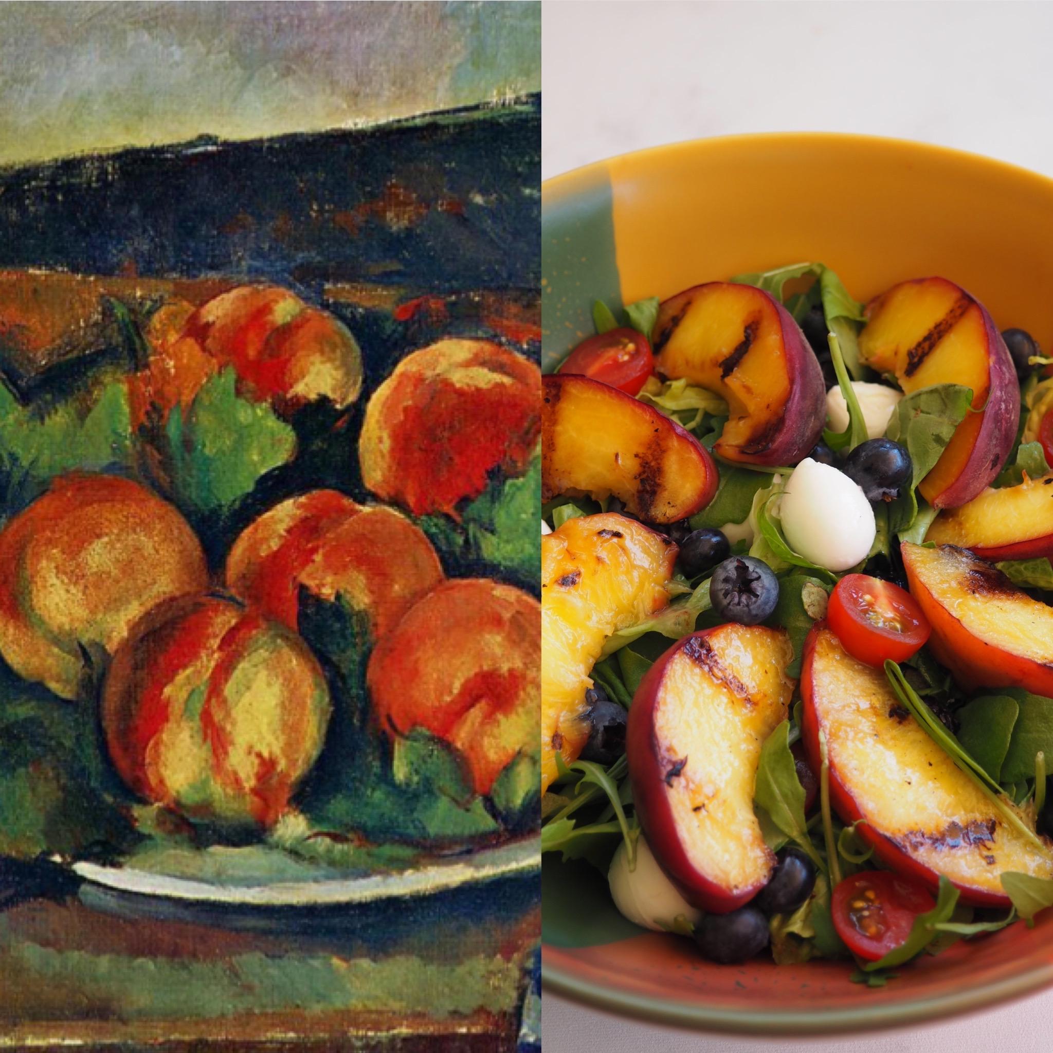 Paul Cezanne I: La ensalada veraniega de melocotón (ESP)