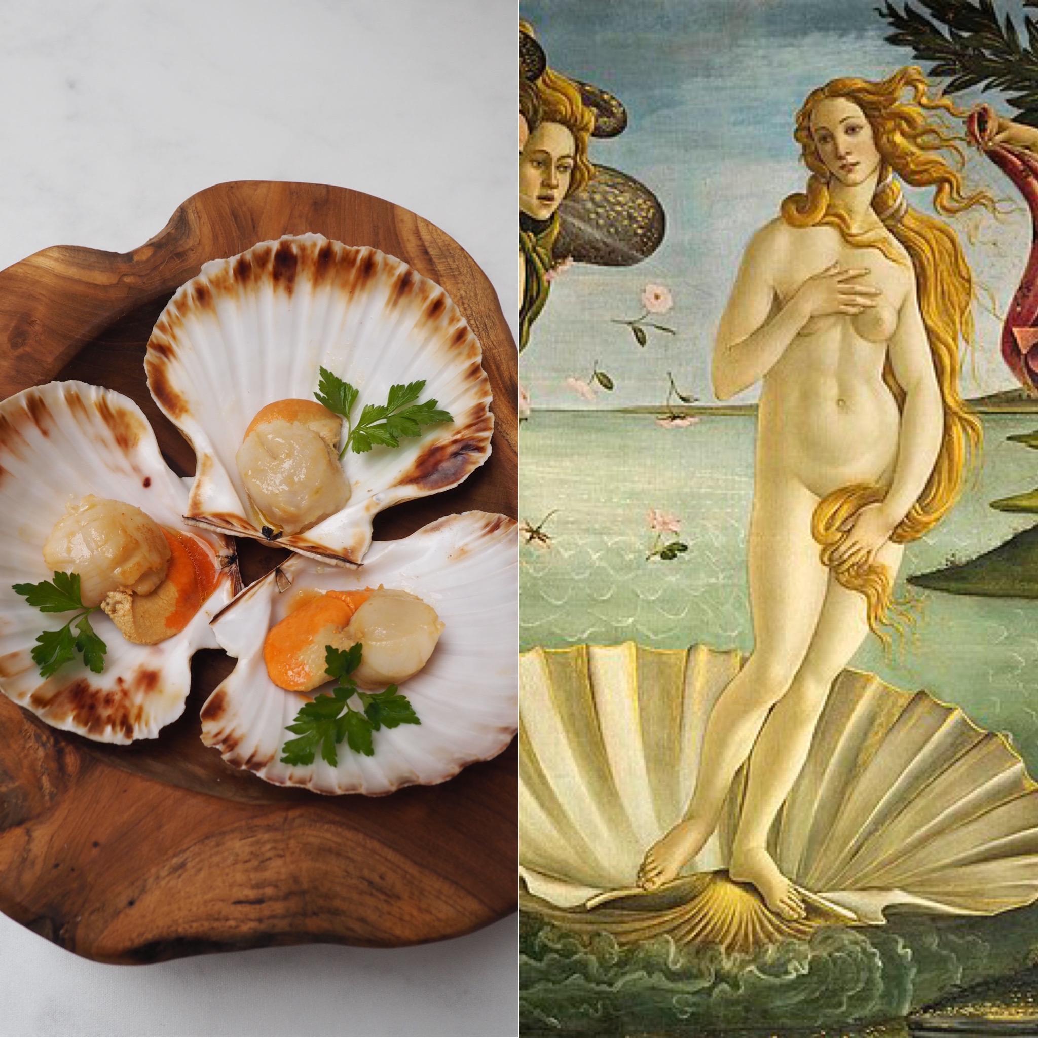 Botticelli, la Venus y las vieiras a la plancha I (ESP)
