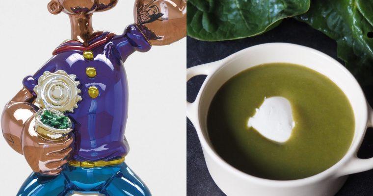 Jeff Koons, Popeye y la crema de espinacas (ESP)