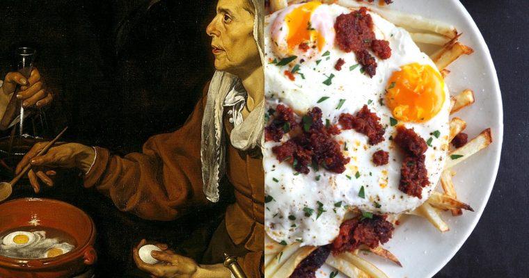 """Diego Velázquez I: Vella fregint ous i els """"huevos rotos"""" saludables a la mallorquina (CAT)"""