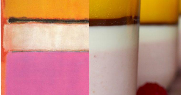Rothko, centro blanco y la panna cotta de colores (esp)