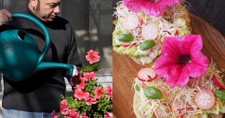 Eduardo Kac, Edunia i la torrada d'alvocat amb flors comestibles (cat)