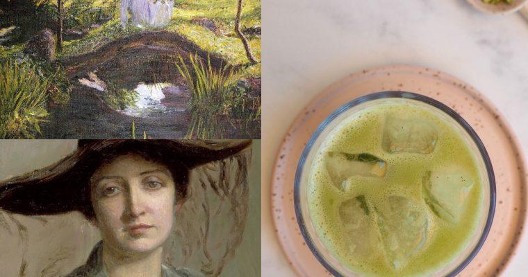 Lilla Cabot Perry, la taza de té y el matcha latte (ESP)