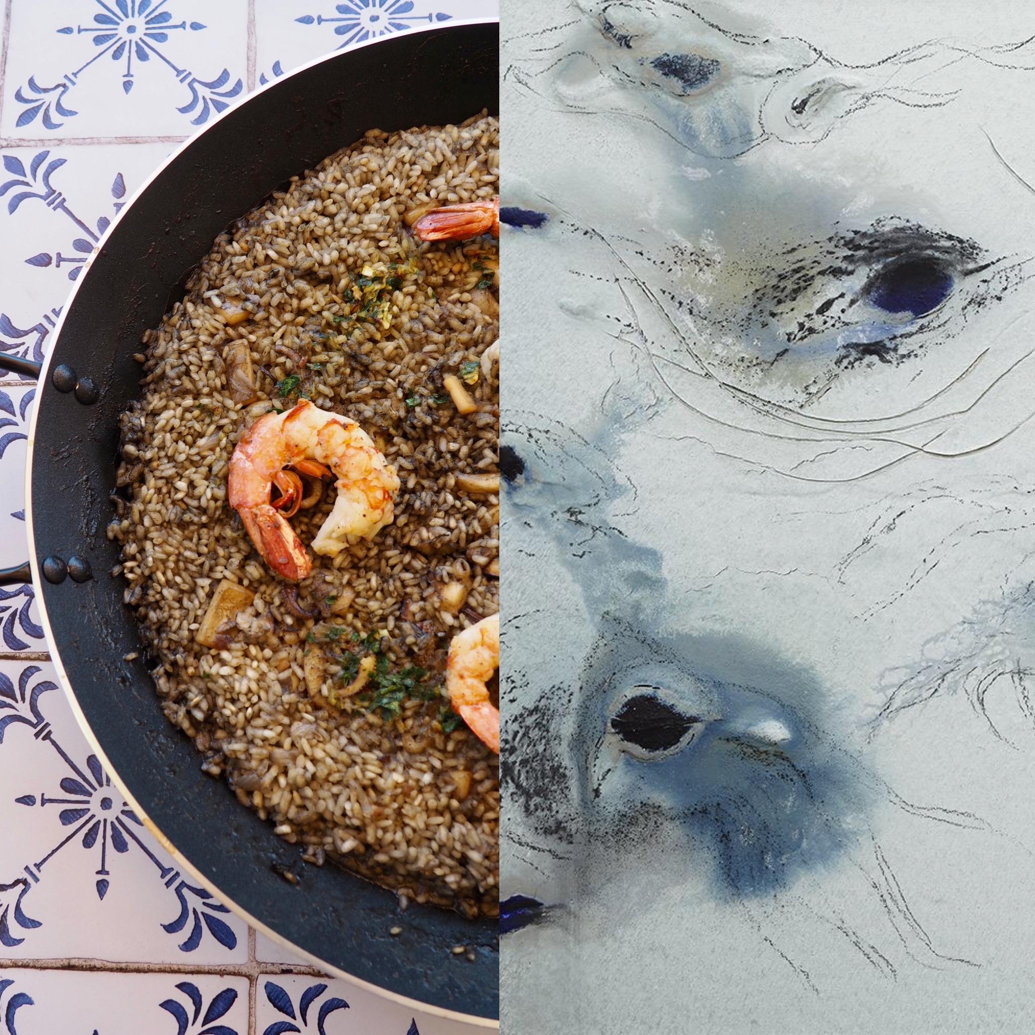Miquel Barceló y el arroz de sepia (ESP)