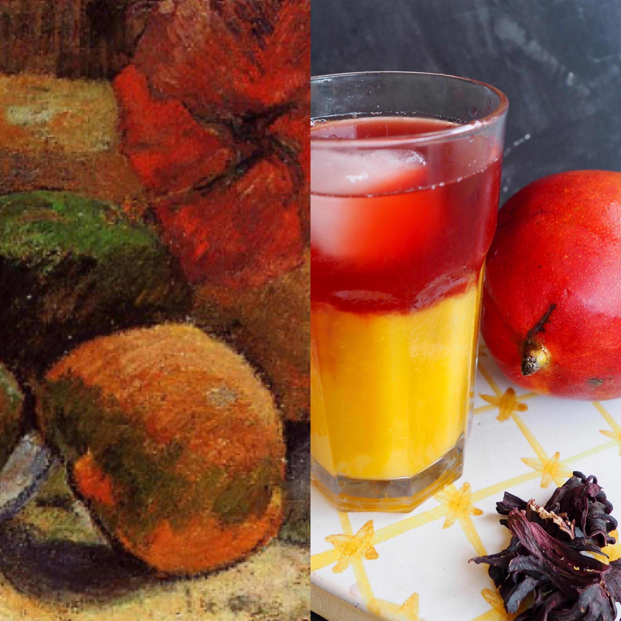 Gauguin y la bebida de mango e hibiscus (esp)