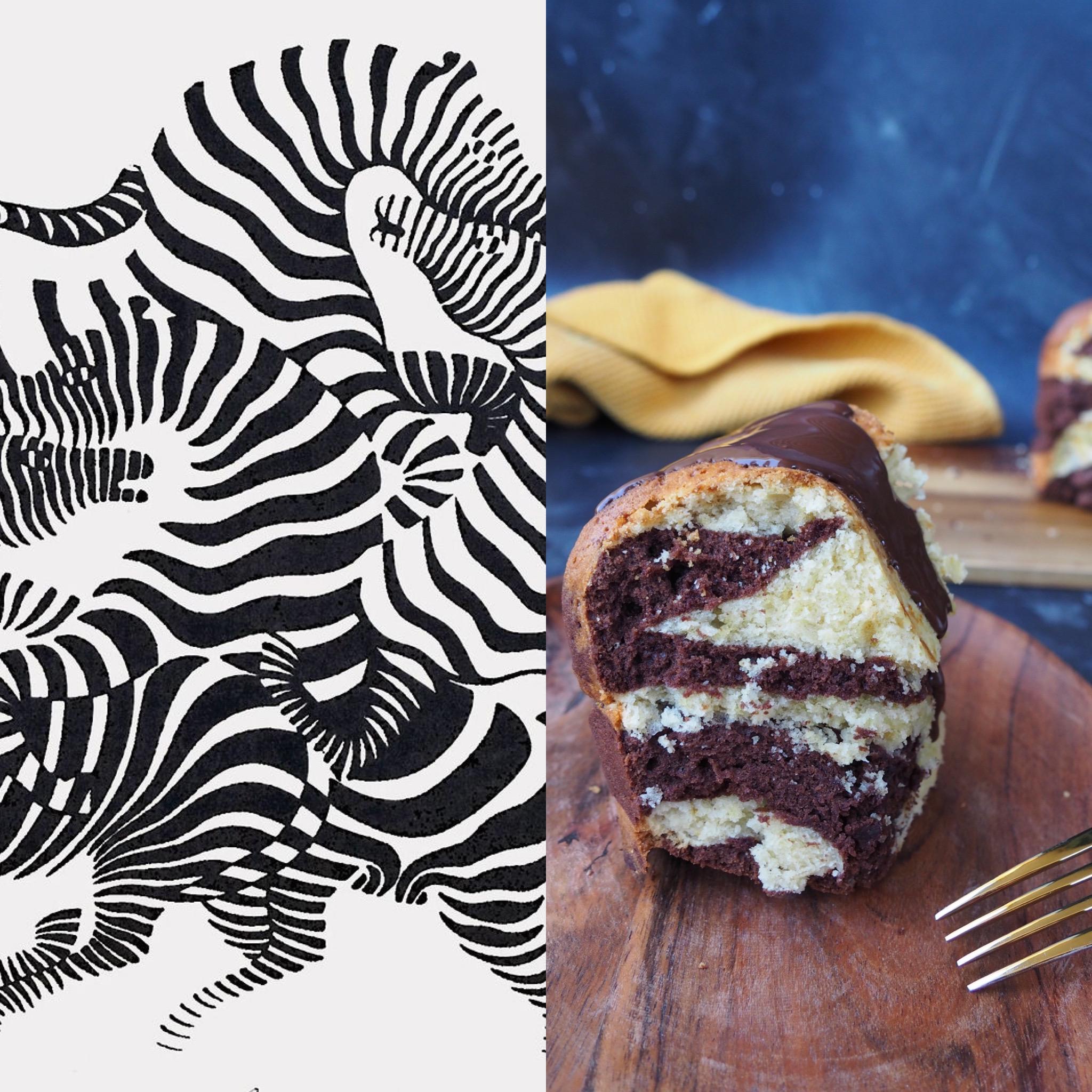 Op art, las cebras y el bizcocho bicolor (esp)